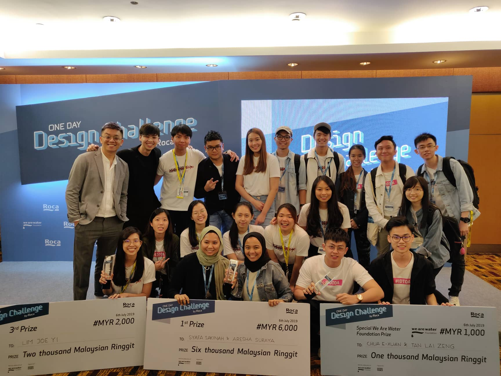 The winning teams from The One Academy