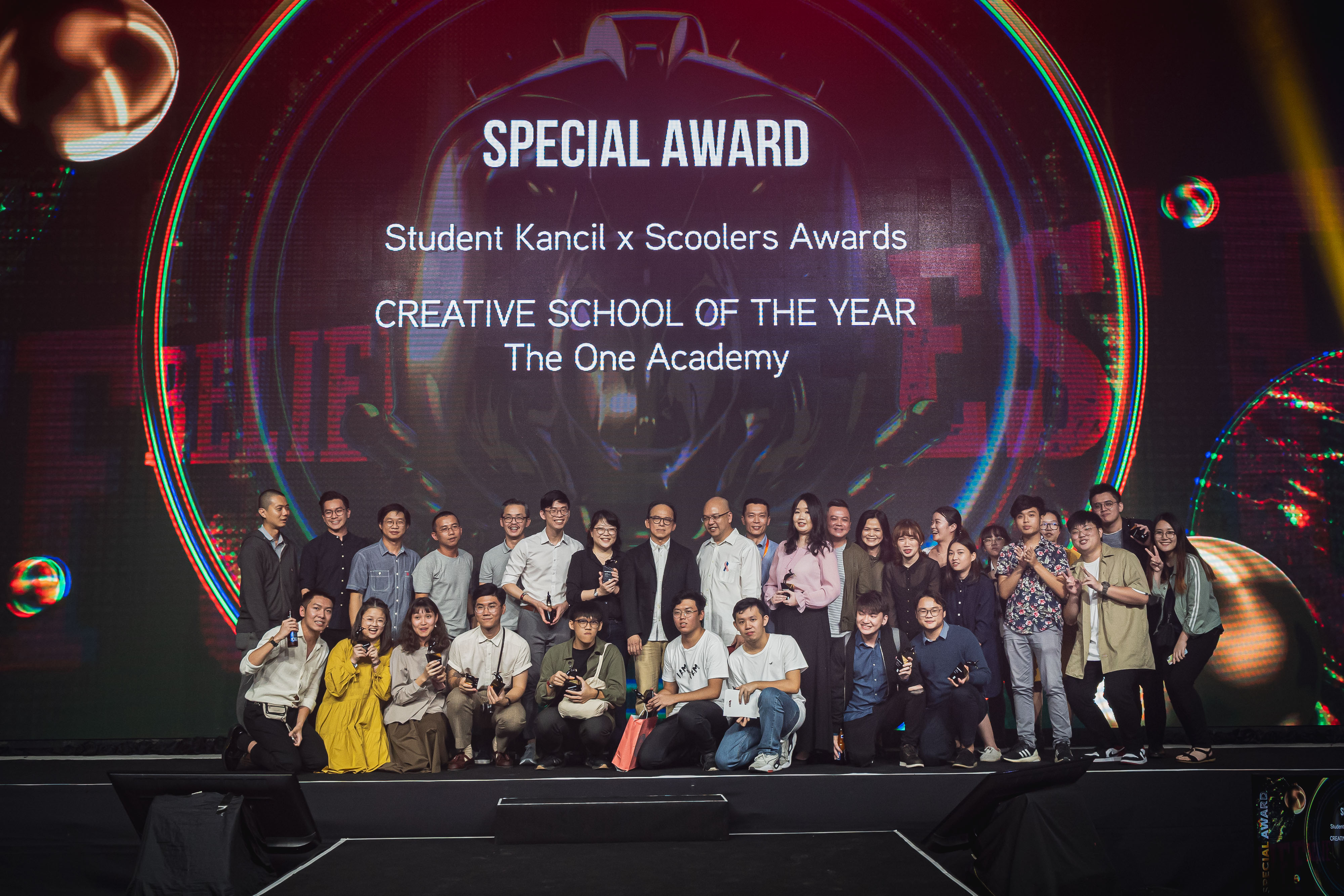 The One Academy's team brings home the honoured Creative School of the Year award